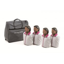 Laerdal - Pack de 4 Little Anne QCPR version noire