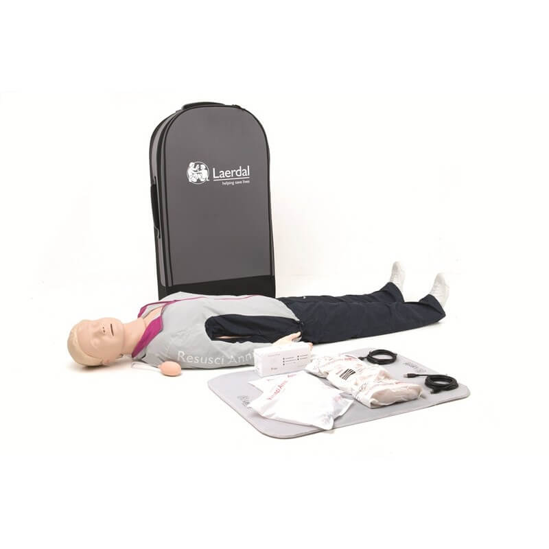 Laerdal - Resusci Anne QCPR corps entier, valise semi-rigide à roulettes