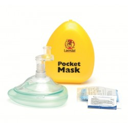Laerdal Pocket Mask in gele plastic verpakking