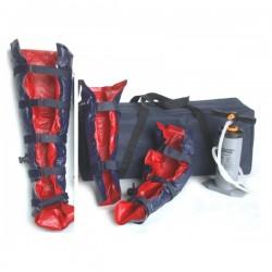 Vacuumspalk set PVC van 3 stucks met pomp en draagtas