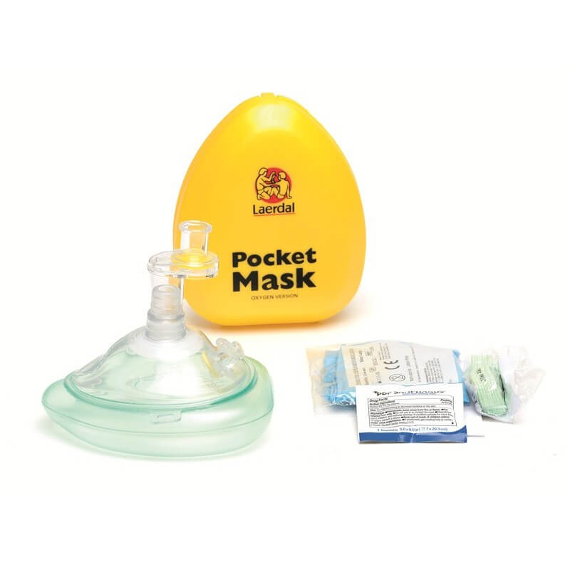 Laerdal Pocket Mask met zuurstofaansluiting