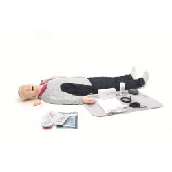 Resusci Anne QCPR AED AW Corps entier avec tête gestion VA