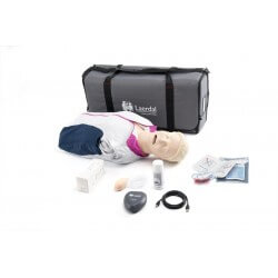 Resusci Anne QCPR AED AW Torse avec tête gestion VA sac