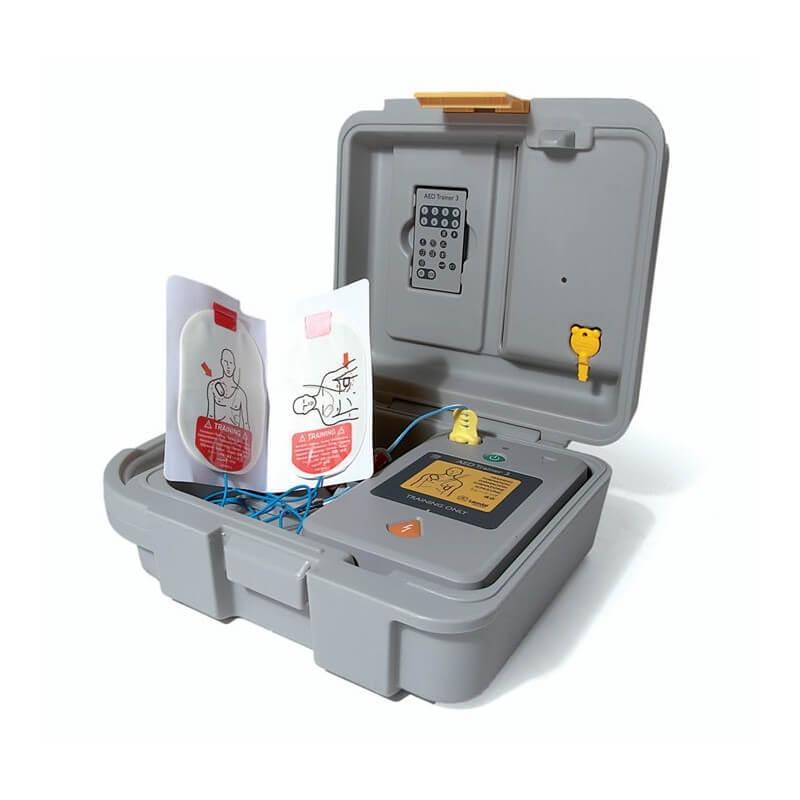 AED Trainer 3 (koffer, elektroden, kabel, baby/kindsleutel)