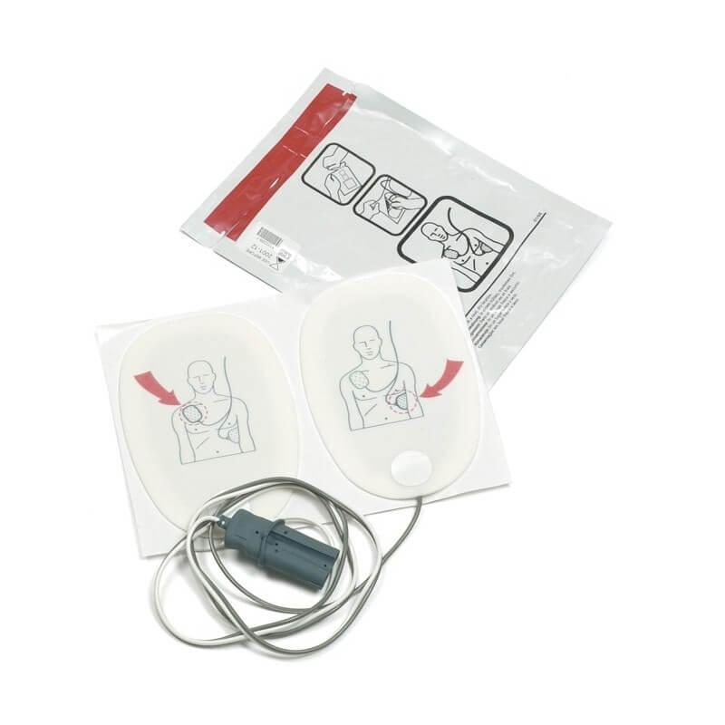 Electrodes de défibrillation adulte, 10 pièces